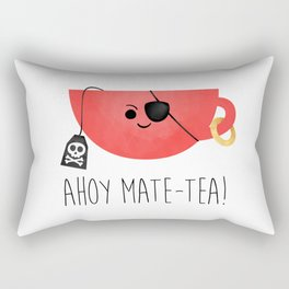Ahoy Mate-tea! Rectangular Pillow