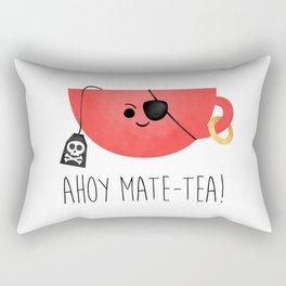 Ahoy Mate-tea! Rectangular Pillow