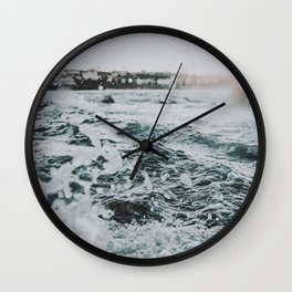 summer waves ii / bondi beach, australia Wall Clock