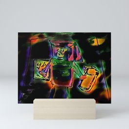 Robot servant Mini Art Print