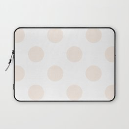 Large Polka Dots - Linen on White Laptop Sleeve