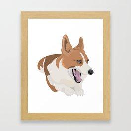 Bobo the Corgi Framed Art Print