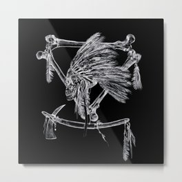 Skull Chief Metal Print