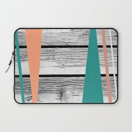 Colored arrows on wood Laptop Sleeve