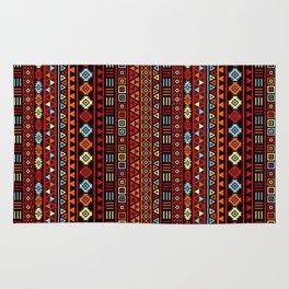 Aztec Influence Ptn IV Orange Red Blue Black Yellow Rug
