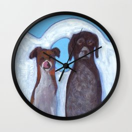 Dogs in Greece Wall Clock