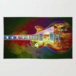 Sounds of music. Guitar. Rug
