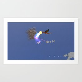 War stars: collusion of fire Art Print