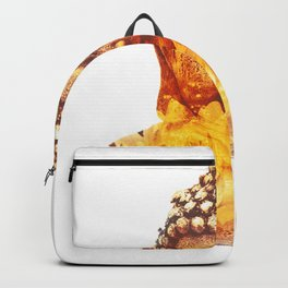 Buddha and lotus flower Backpack