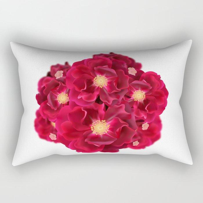 Floral Ink Rectangular Pillow