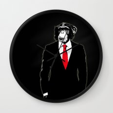 Domesticated Monkey Wall Clock