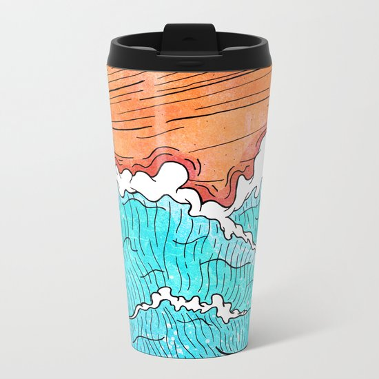Seashore Metal Travel Mug