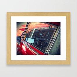 Red jag, Red car Framed Art Print