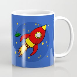 Space Rocket Coffee Mug