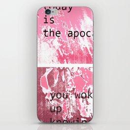 The apocalypse iPhone Skin