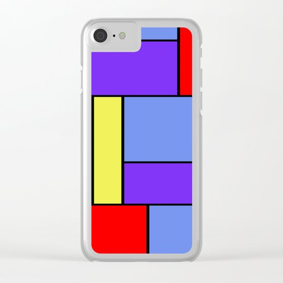 Abstract #482 Clear iPhone Case