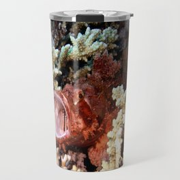 Red Scorpian Fish With Mouth Open Travel Mug