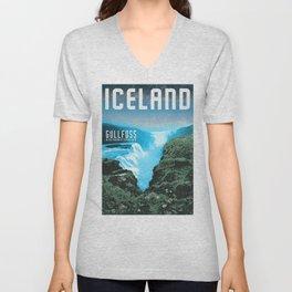 Iceland: Gullfoss Unisex V-Neck