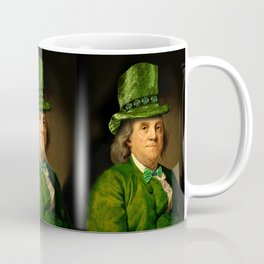 St Patrick's Day for Lucky Ben Franklin Coffee Mug