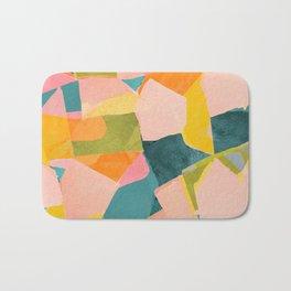 Fun Beautiful Cloodiscope Paper Cut Out Patterns Fun Summer Tropical Style Bath Mat