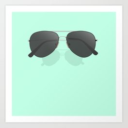 Aviator sunglasses Art Print