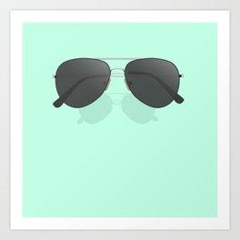 Aviator sunglasses Art Print
