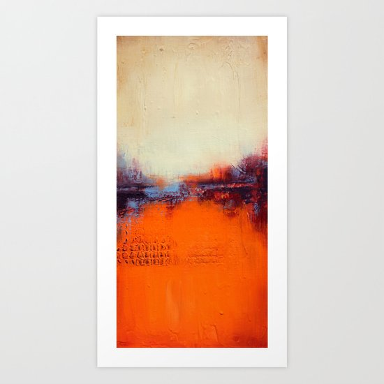 Orange and White Art Print