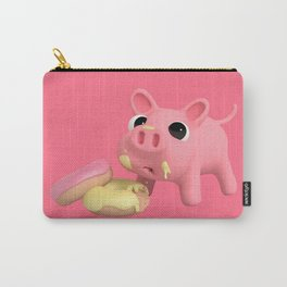 Rosa the pig eating Donuts Carry-All Pouch