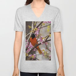 Baltimore Oriole Unisex V-Neck