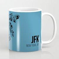 jfk Mugs featuring JFK by 08 Left