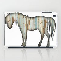 wooden iPad Cases featuring Wooden horse by Vin Zzep