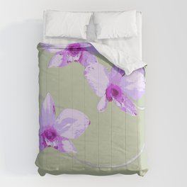 COOKTOWN ORCHID LIGHT GREEN Comforters