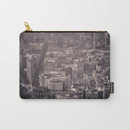 New York City #newyork #blackwhite #flatiron #NYCarchitecture #NYC #Manhattan #bw #empirestate Carry-All Pouch