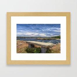 Blue Skies over Rockport Framed Art Print