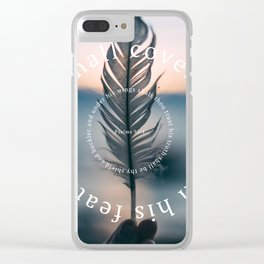 Psalm 91: He shall cover thee with his feathers Clear iPhone Case