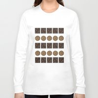 cookie monster Long Sleeve T-shirts featuring Cookie Monster (cream) by Sidrah  Mahmood