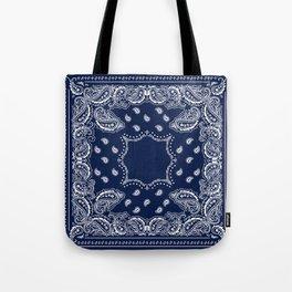 Bandana - Navy Blue - Boho Tote Bag