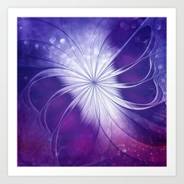 butterfly flame -violet- Art Print