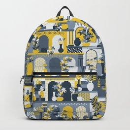 Hanging Gardens (Yellow & Gray) Backpack