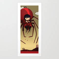 Travel by spider Art Print
