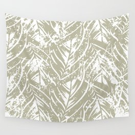 Jungle print with silhouette of paradise island foliage Wall Tapestry