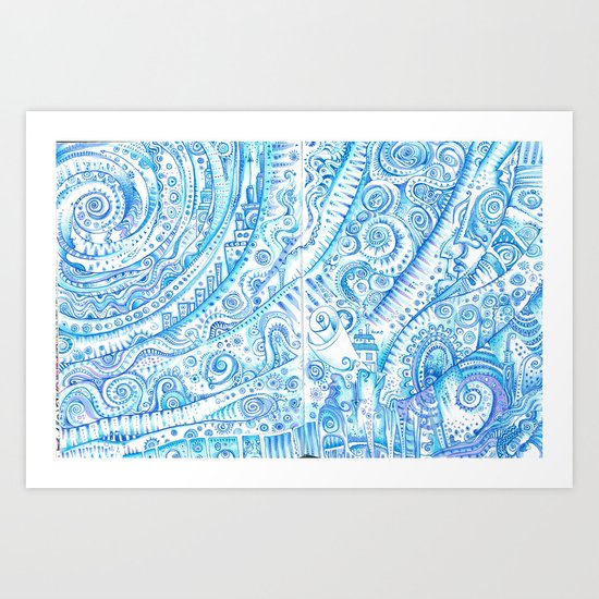 Consider Blue for a moment or two Art Print