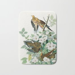 Carolina Turtle Dove, Birds of America by John James Audubon Bath Mat