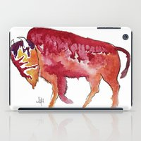 bison iPad Cases featuring Bison by Armyhu