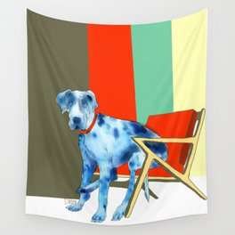 Great Dane in Chair #1 Wall Tapestry