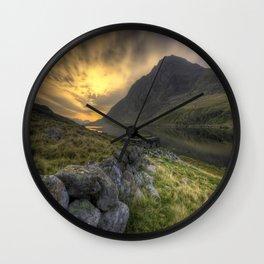 Tryfan By Morning Wall Clock