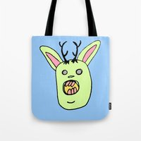 jack Tote Bags featuring Jack by BubbleTeeth