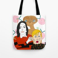 home alone Tote Bags featuring Home alone? by Elena Éper