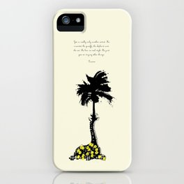 Giraffe Palm Tree iPhone Case