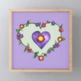 Heartily Floral Framed Mini Art Print